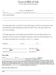 General Bill Of Sale Form Free Bill Of Sale For Boat Trailer Bill Of Sale Template Bill Of