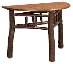 incredible round hall table with rustic half round hall table