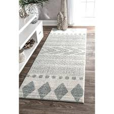 traditional vintage faded grey runner rug style