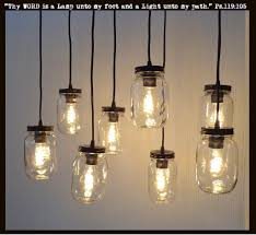 mason jar lighting fixture. mason jar 8light pendant chandelier new quart clear the lamp goods lighting fixture