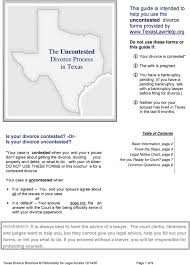 Texas Courts Chart The Uncontested Divorce Process In Texas Pdf