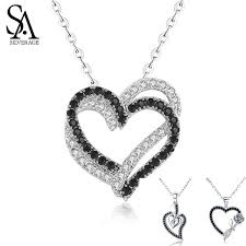 2019 <b>SA SILVERAGE Real 925</b> Sterling Silver Double/Three Heart ...