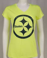 GIII 4her <b>Women's</b> NFL Pittsburgh Steelers Neon Yellow <b>V</b>-<b>Neck</b> T ...