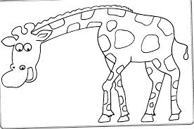 Giraffa Sorridente Immagine Di Animali Da Colorare Per Bambini