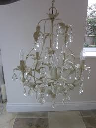 high quality bhs 5 arm ceiling light chandelier in brushed gold cream with glass