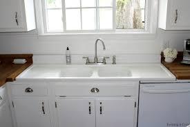 kitchen excellent farmhouse kitchen sinks with drainboard sink