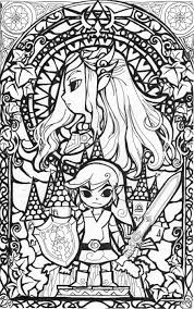Small Picture awesome stained glass Zelda coloring page Gonna try this in