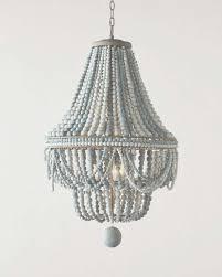 antique whitewash wood bead chandelier making beaded chandelier pertaining to bead chandelier view