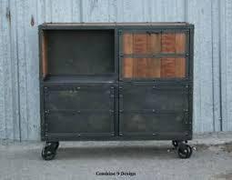 image is loading bar cart liquor cabinet vine industrial mid century