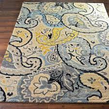 blue yellow rug grey green