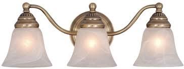 Vaxcel VL35123A Standford Antique Brass 3-Light Bathroom Lighting Fixture.  Loading zoom