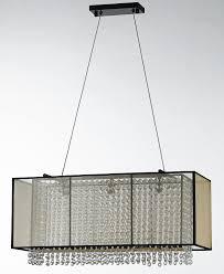 am8830 contemporary rectangular translucent shade clear crystal chandelier lamp 22 42 l x 8 10 w 695 alan mizrahi lighting design tictail