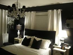 black bed with white furniture. Best Colors For Bedrooms Influences Your Moods : Black And White Bedroom Furniture Design Bed With O