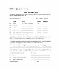 Vacation Request Form Template Holiday Free – Gamerates.co