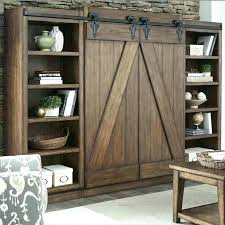 barn door bookcase wood farmhouse interior doors world market ma