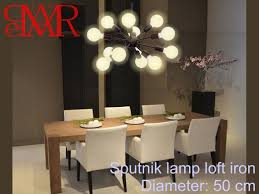 Industrial contemporary lighting Apartment Image Etsy Lamp Retro Chandelier Contemporary Lighting Sputnik Design 12 Etsy