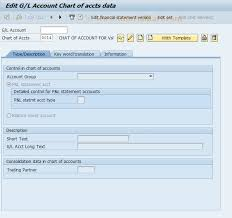 Display Chart Of Accounts In Sap Tcode Fsp5 Sap Tcode Block Master Record In Chart Accounts