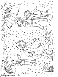 Small Picture Rain Coloring Pages jacbme