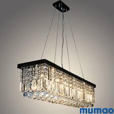 Modern Art Deco Lighting Modern Crystal Chandeliers Rectangular Led Pendant Lights Indoor Art Deco Lamps Lighting Fixtures For Dining Living Room Hotel Low Voltage Pendant