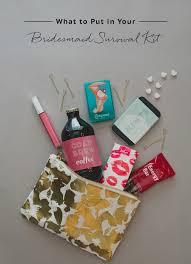 bridesmaid survival kit diy