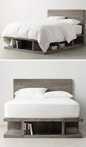 9 Ideas For Under-The-Bed Storage // The grey finish of this storage bed  and the shapes of the compartments give it a sort of industrial feel and  make it ...