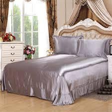 Blau Weiß Streifen Polyester Bett Rock Elegante Matratze Abdeckung