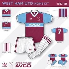 West ham 100th years anniversary kit west ham £ 25.00. An In Depth Look West Ham United 1983 85 Home Kit Kit Design Football Shirt Blog