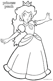 Mario Coloring Pages Princess Peach Kart 7 Coloring Pages To Print