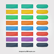 Colors Web Buttons Set Vector Free Download
