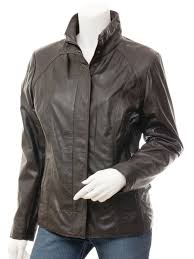 womens leather jacket in brown bryant