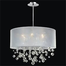 white fabric shade crystal modern drum. Perfect Modern Drum Shade Crystal Chandelier For Your Home Decorating Ideas With Regarding  Awesome Household In White Fabric Modern