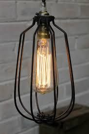 pendants lighting. Cage Pendant Light In Matt Black - Vintage Industrial Pendants With Teardrop Edison Filament Bulb Lighting