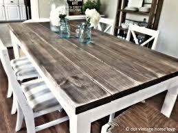 -white-wood-kitchen-table-farmhouse-kitchen-tables-and
