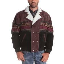 s pfiwestern com western mens sherpa lined aztec suede jacket html