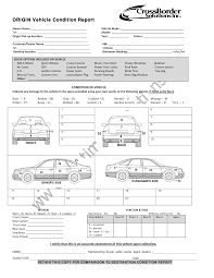 vehicle condition report templates word excel samples