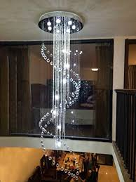 moooni large modern crystal chandelier lighting double spiral ceiling light for entrance porch d31 5 x 110 h wantitall