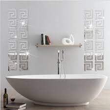 mirror wall stickers acrylic 3d ceiling background wall decoration border decoration stickers adhesive wall stickers affordable wall decals from natal