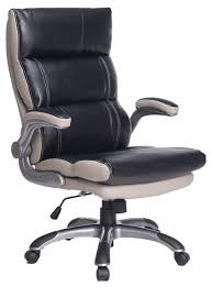 high back leather desk chairs. high-back bonded leather executive office chair, black and light gray contemporary-office high back desk chairs
