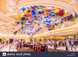 the interior of bellagio hotel and in las vegas stock image