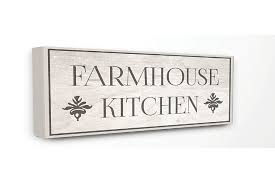 Modern farmhouse wall decor bless the food before us prayer art dining room sign, primitive rustic wall decor large canvas kitchen art print farmhousedecorart 5 out of 5 stars (2,181) Farmhouse Kitchen Typography 13x30 Canvas Wall Art Ashley Furniture Homestore