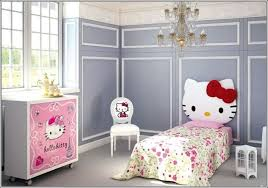 hello kitty bedroom furniture set. this furniture set has the bed with a cute kitty face headboard and chair backrest having dresser also pink hello bedroom o