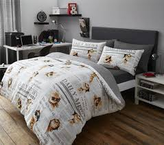 fun animal themed duvet  quilt cover bedding sets  cats dogs