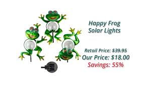 Happy Frog Solar Lights  The Book PeopleSolar Frog Lights