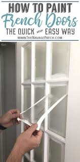 how to paint french doors the easy way