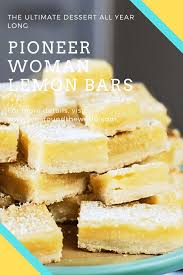 From breakfast, to lunch, treat, snack and also dinner choices, we have actually scoured pinterest and also the very best food blogs to bring you pioneer woman coconut cream pie you need to try. Pioneer Woman Lemon Bars Jen Around The World