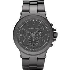 michael kors men s dylan chronograph watch gunmetal polyvore michael kors men s dylan chronograph watch gunmetal