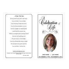 Funeral Service Templates Word Celebration of Life Funeral Pamphlets 1