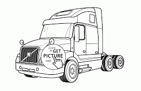 Small Picture Semi Truck Volvo Coloring Page For Kids Transportation Inside