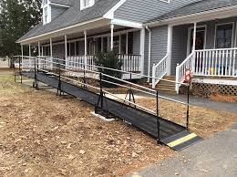 amramp provides access with this attractive wheelchair ramp from the lovely wrap around porch to