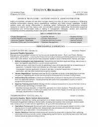 Sample Resume Templates For Office Managermedical Manager Medical